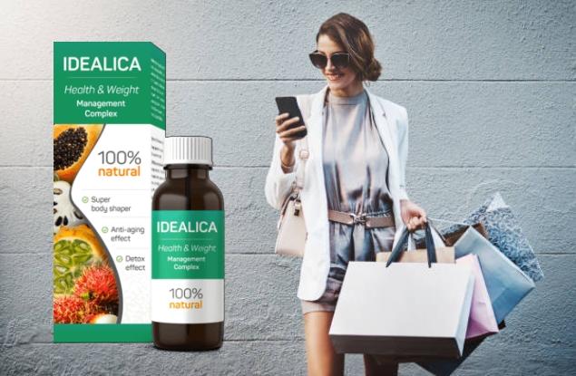 Idealica плюс цена опаковка, момиче с телефон и покупки
