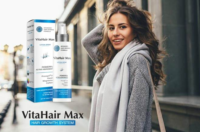 VitaHair Max спрей, момиче с дълга коса