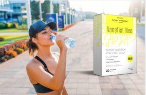 таблетки Vanefist Neo, жена пие вода