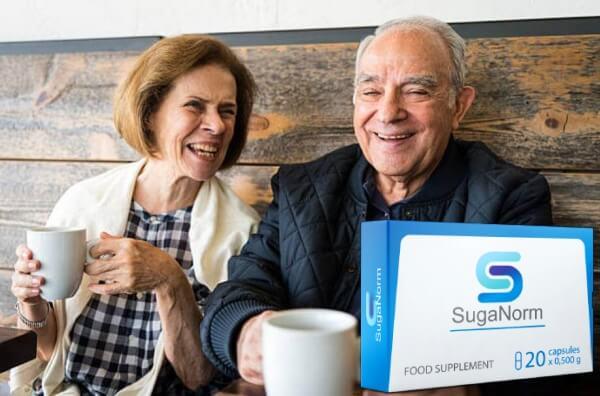 Suganorm, щастлива възрастна двойка