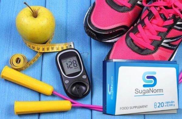 ябълка, уред за измерване на кръвната захар, маратонки