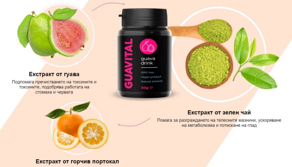 гуавитал напитка съдържание